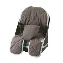Travelling Booster Seat Grey and Blue 1