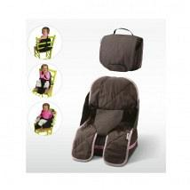 Travelling Booster Seat Brown and Pink 1