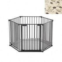BabyDen PlayPen Black with Tarok Mat 1