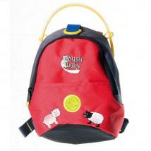 Minipack Toddler Backpack and Rein Red