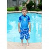 UV Short Sleeve Rash Tops Blue Size 8 to 9 Years 2