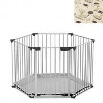 BabyDen PlayPen Silver with Tarok Mat 1