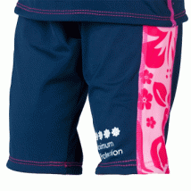 Konfidence Uv sunspot Shorts Navy Pink Hibiscus-360x360